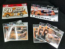 Tony Stewart #20 Static Cling Lot plus Decal Sticker Decal NASCAR Race Racing