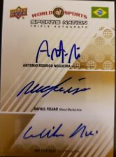 Antonio NOGUEIRA Rafael FEIJAO Wilson REIS 2010 World of Sports Triple AUTO #/50