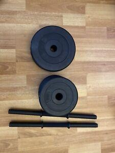 Opti Vinyl Dumbbell Set 2x2.5kg. 4x1.25kg, Set Of Grips, Missing Clips For Grips