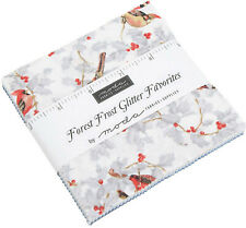 "Forest Frost Glitter Favorites Charm Pack 42 100% Cotton 5"" Precut Quilt Squares"