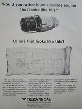 10/1977 PUB TELEDYNE CAE TURBINE ENGINES HARPOON MISSILE J402 TURBOJET ENGINE AD
