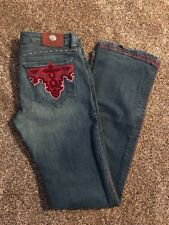 ANTIK DENIM Womens Jeans Embroidered Pockets Embellishment Size 27/33