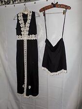 Vintage 60's Size 9 Dress Hot Pants Outfit Black & White Eloise Curtis