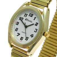 Gents Quartz Watch by Ravel with Expanding Bracelet Goldtone 17