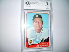 Al Kaline GRADED CARD!! Beckett BCCG 8!! 1965 Topps #130 Detroit Tigers HOFer!!