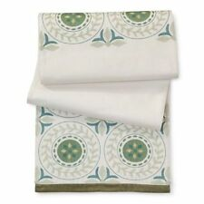 Threshold Embroidered Green Medallion Table Runner Green Blue Soft White