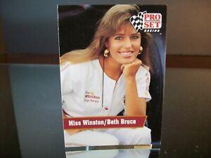 Beth Bruce Miss Winston Pro Set Racing 1991 Card #27