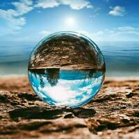 Clear Glass Crystal Ball Photography Lens Sphere Magic Glass Home Ball Y8V6