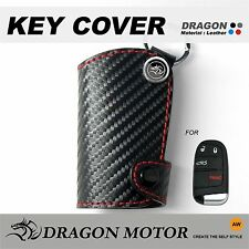 Leather Key fob Holder Case Chain Cover fit For DODGE Journey Avenger Durango