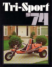 (1) 1974 ALSPORT TRI SPORT TRIKE NOS VINTAGE BROCHURE MINT CONDITION 3 WHEELER