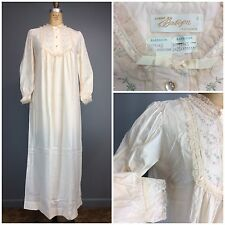 Barbizon Feathaire Vtg 60s Donnie Jen Granny Victorian Style Long Nightgown NOS