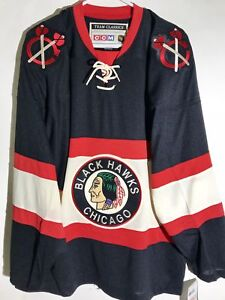 CCM Classic NHL Jersey Chicago Blackhawks Team Black Throwback sz S