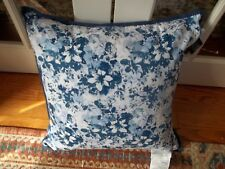 New Ralph Lauren Blue White Country Floral Decorative Bed Pilllow 20x20