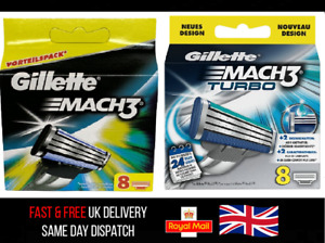 New Gillette Mach3 / Turbo 8 OR 16 Razor Blades - SAME DAY DISPATCH