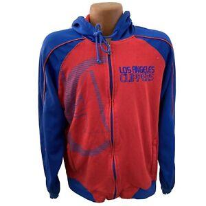Los Angeles Clippers Full Zip Blue Red Hoodie Sweatshirt M NBA basketball LA