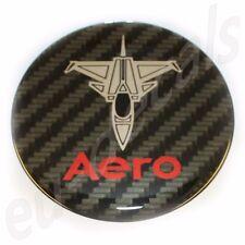 50mm/2.00inc Carbon Red Chrome SAAB JET Aero Hood Emblem Badge 9-5 9-3 3D decal