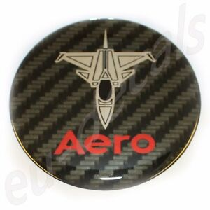 "32mm/1.26"" Carbon Red Chrome SAAB JET Aero Emblem Badge 900 9-5 9-3 3D decal"