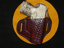 Springfield Armory XD-S 9 mm leather holster  Burgundy basket weave Kwik & Free