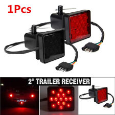 2'' Trailer Truck Hitch Towing Receiver Cover 15 LED Brake Light Cover with Pin