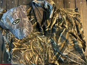 Hardcore Hoodie Max 5 Camo Lg and Drake waterfowl Shadow Branch Hat banded avery