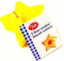 Pack Of 5 Sizes Tala Star Coloured Cookie Cutters