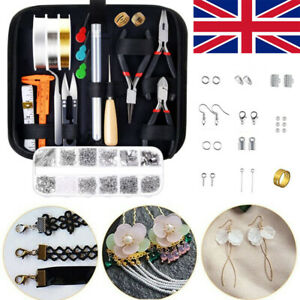 956PC Repair Tools DIY Jewellery Making Kit Finding Pliers Starter Supplies Set
