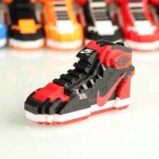 Brand New Bred Air Jordan 1 Sneakers Lego Building Blocks Bricks