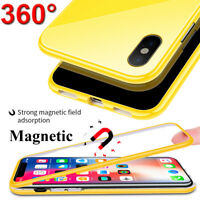 360 Full Body Magnetic Adsorption Case for iPhone XS Max/XR Tempered Glass Cover
