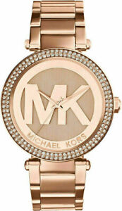 Michael Kors MK5865 Parker Rose Gold Ladies Watch New! Fast Shipping