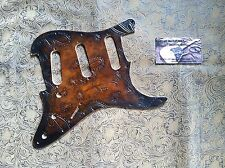 Custom Tooled Leather Pickguard Fender Stratocaster Vintage Paisley Jimi SSS