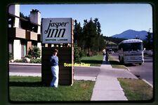 Jasper Inn Motor Lodge Canada, Grey Goose Bus in 1980, Original Slide aa 1-11b