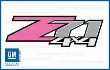 set of 2: 2007 <-> 2013 Chevy Silverado Z71 4x4 Decals - FP - Pink Stickers Girl