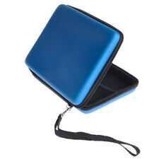 Blue Carry Storage Hard Protective Case Cover For Nintendo 2DS Game With Zip