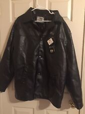 New Collezioni Leather Blazer Jacket Black Men's XL New With Tags NWT