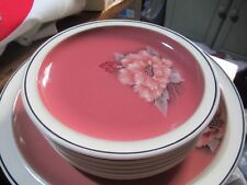 DENBY - DAMASK BREAD AND BUTTER / SIDE PLATES,  17cm across, very pretty design.