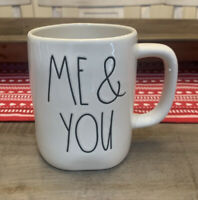 Rae Dunn by Magenta - ME & YOU Hearts LL White Ceramic Two Sided Coffee Tea Mug