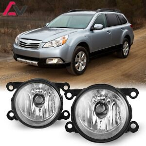 For Subaru Outback 10-12 Clear Lens Pair Bumper Fog Light Lamp OE Replacement