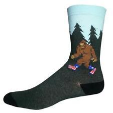 Bigfoot Sock Co. Men's Crew Socks Mythical Monster Sasquatch Novelty Footwear