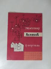 Televisori autovox in ogni casa. Pieghevole pubblicitario