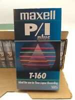 Maxell Vhs Sealed 10-pack P/I Plus T-160 Plus Blank Video Tape Lot