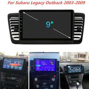 For Subaru Legacy Outback 03-09 Android 10.1 WiFi Stereo Radio GPS Navigation 9""