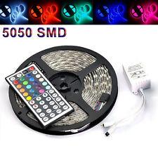 5M 5050 RGB SMD 300 LED IP65 Waterproof 12V Light Strip 44 Key Remote Supply