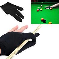 1Pc 3Fingers Durable Black Snooker Billiard Cue Glove Pool Left Hand Accessory