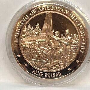 Franklin Mint American History series~1859 Beginning of American Oil Industry
