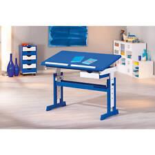 Kinderschreibtisch Schülerschreibtisch Schreibtisch Kind blau verstellbar NEU