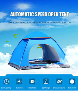 Outdoor Travel Camping Hiking Fishing UV sun waterproof Tent Family 2-3 -person