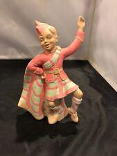 "Vintage HOLLAND MOLD Celtic Scottish Irish Boy Dancer In Kilt 8"" Tall"