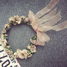 Beach Party Crown Bride Wedding Headband Floral Headdress Flower Handmade Tiaras
