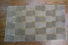 3x4.10 Modern Tibetan Nepal Hand Knotted Wool Rug Tufenkian Double Square Fine!