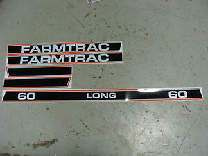 LONG FARMTRAC TRACTOR HOOD DECAL KIT HIGH QUALITY DECALS!!!!! 🎯